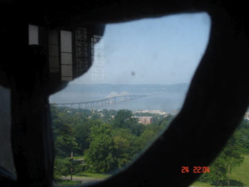 View of Tappan Zee from dome window.