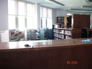 Old circulation desk.