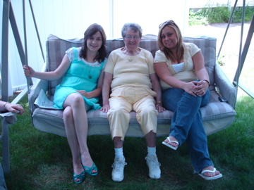 Myself, Connie, and my sister.