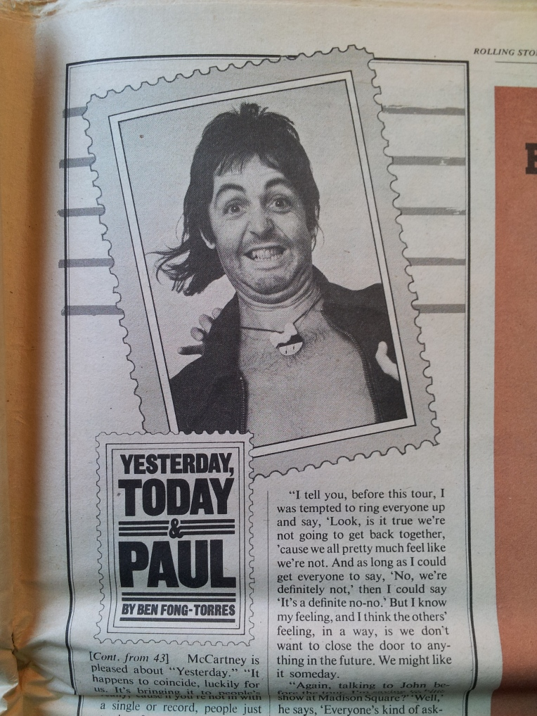 A goofy McCartney from the June 17th issue.